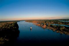 African Queen Cruise Zambezi Aerial View