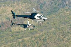 Batoka Sky Helicopters in flight Zambia