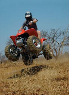 Livingstones Quad Bike Jumping Zambia