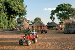 Livingstones Quad Bike Zambian Villiage