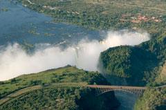 Victoria Falls Bridge aerial picture