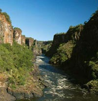 The Zambezi River canyon