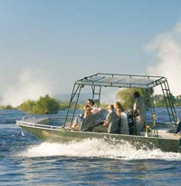 Boat ride on the Zambezi River, Victoria Falls
