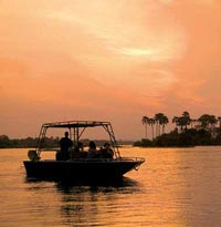 Boat ride by sunset on the Zambezi