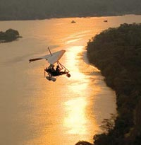 Ultralight flight over the Zambezi